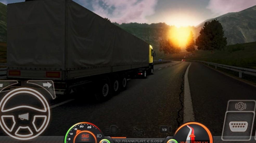 Confira como jogar Simulador de Caminhão: Europa 2 e mandar bem no simulador realista para smartphones — Foto: Reprodução/Rafael Monteiro