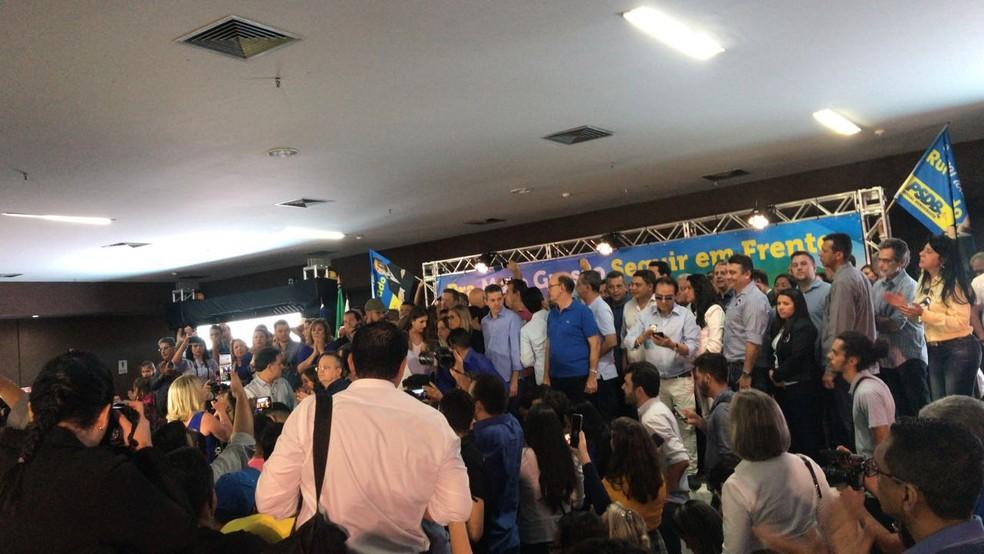 PSDB confirma Pedro Taques como candidato à reeleição ao governo de Mato Grosso (Foto: Cristina Mayumi/TV Centro América)