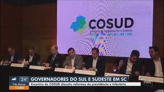 Governadores do Sul e Sudeste assinam carta com temas acordados entre estados