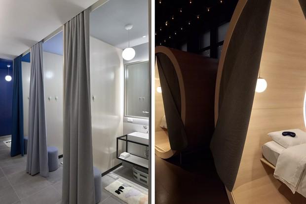 Espaço de higiene e de soneca do The Dreamery (Foto: Reprodução)