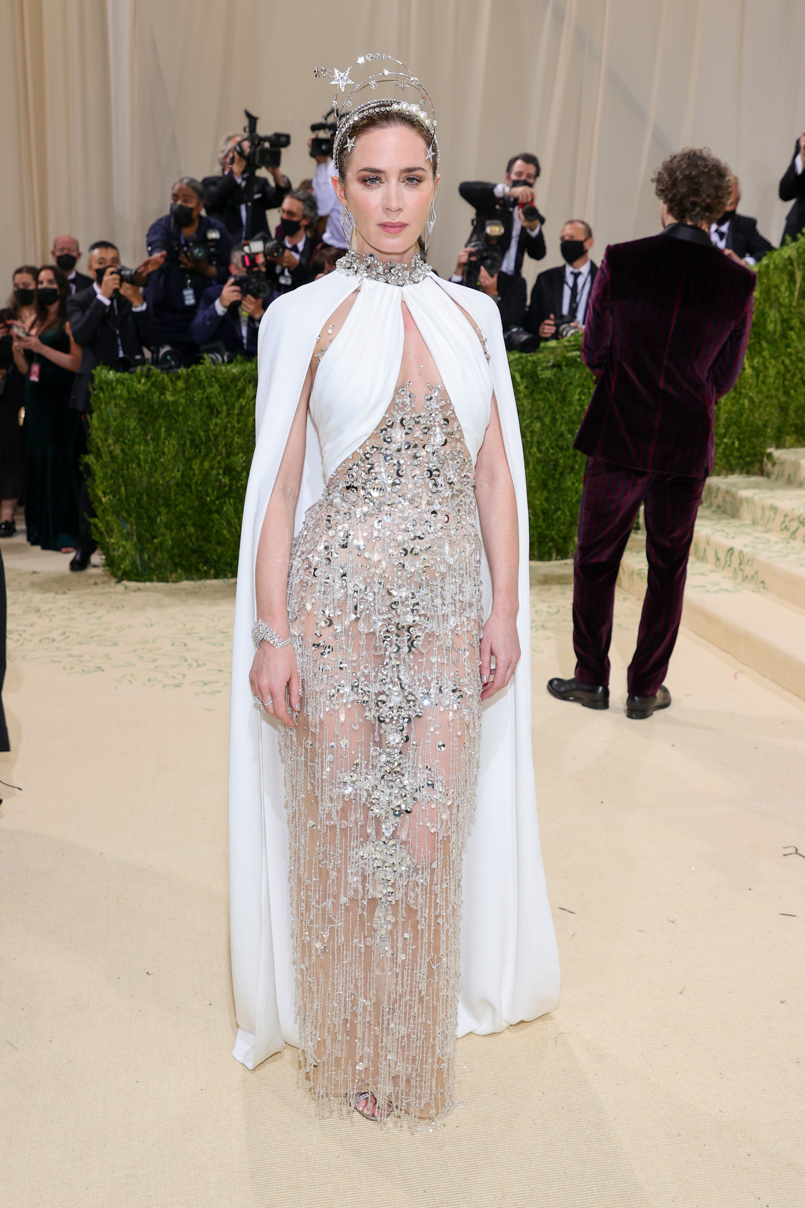 NEW YORK, NEW YORK - SEPTEMBER 13: Emily Blunt attends The 2021 Met Gala Celebrating In America: A Lexicon Of Fashion at Metropolitan Museum of Art on September 13, 2021 in New York City. (Photo by Theo Wargo/Getty Images) (Foto: Getty Images)