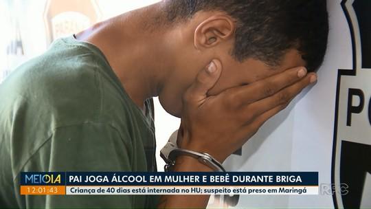 Homem é preso suspeito de jogar álcool em mulher e bebê de 40 dias em Paiçandu