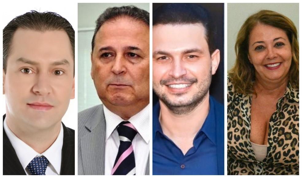 Chistian Zini, Adir Cardoso, Claudio de Araújo Schuller e Cleide Brandão Alvarenga — Foto: Montagem G1