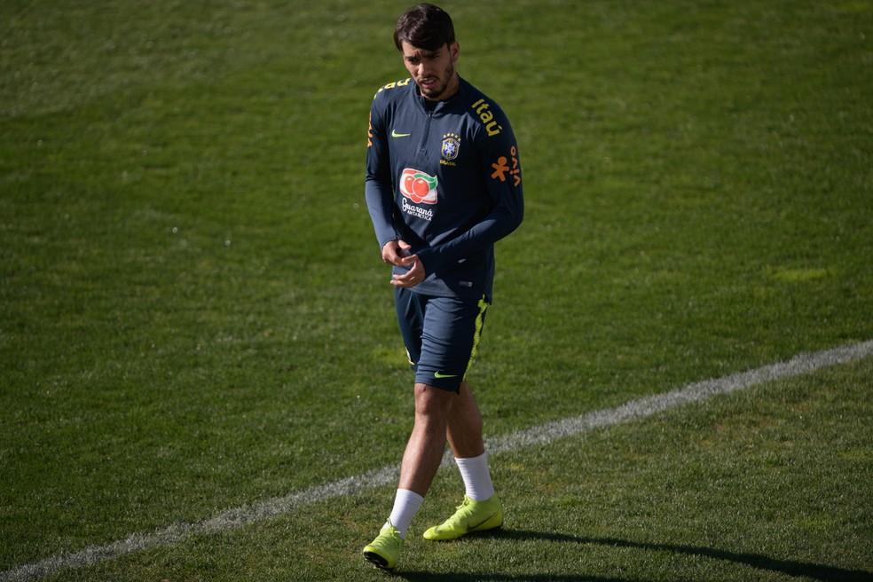 Lucas Paquetá em treino da Seleção — Foto: Pedro Martins / MoWA Press