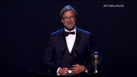 Jurgen Klopp é eleito o melhor técnico do mundo em premiação da Fifa