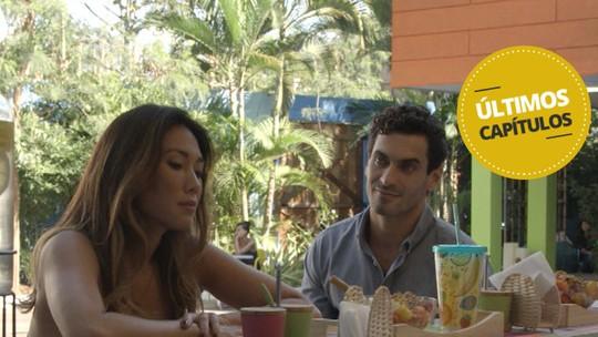 Últimos capítulos: Roberta e Germano falam sobre antiga relação