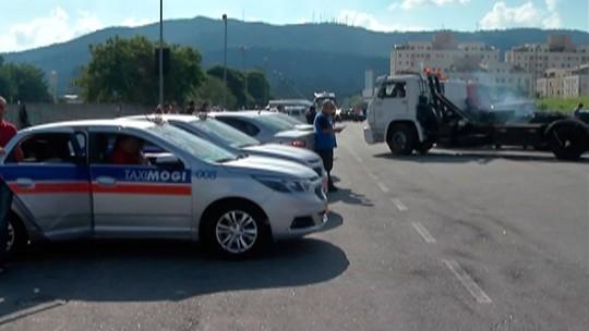 Caminhoneiros voltam a protestar em Mogi das Cruzes