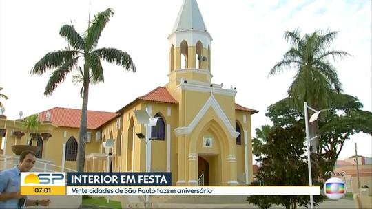 Criadas em decreto, sete cidades do Centro-Oeste Paulista fazem aniversário nesta sexta-feira