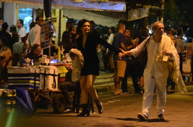 Letícia Sabatella e Daniel Dantas (Foto: Webert Belicio / AgNews)