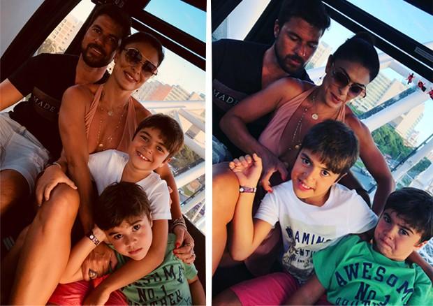 Juliana Paes com o marido e os filhos (Foto: Reprodução/Instagram)