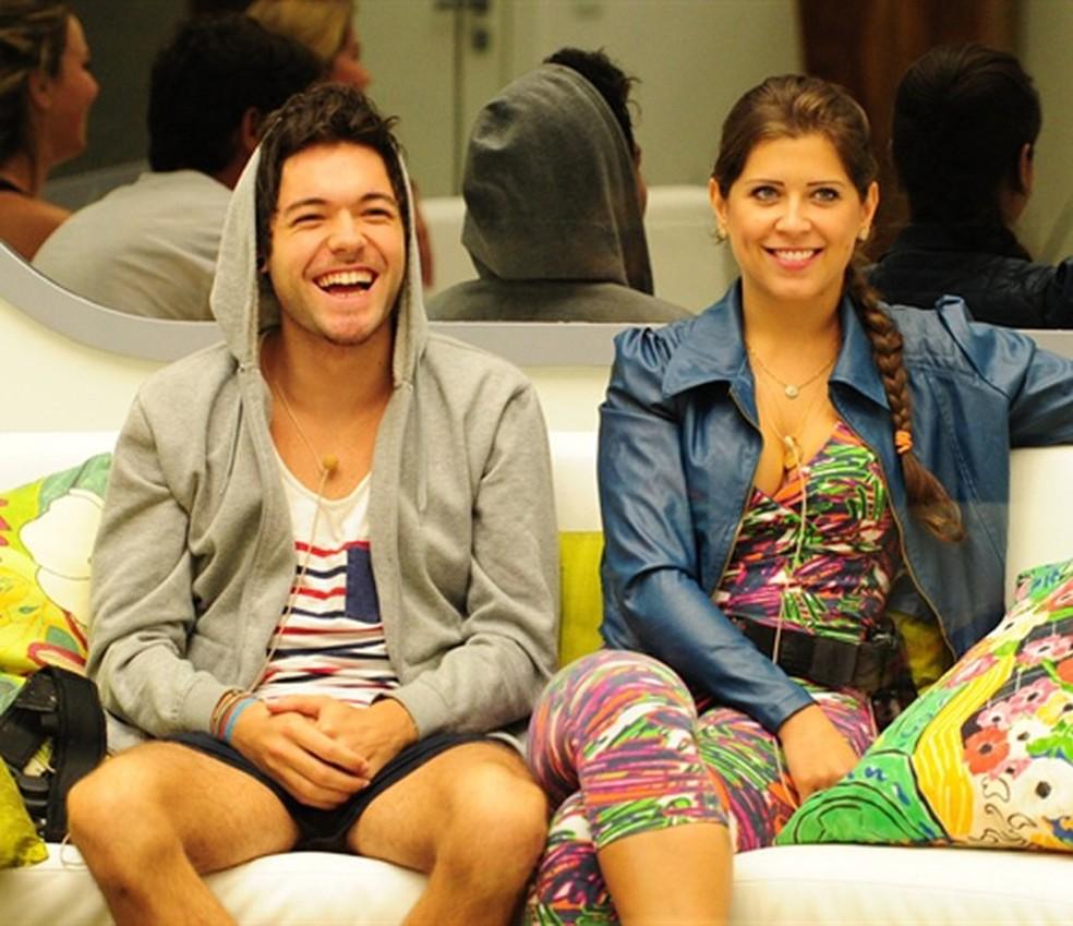 Nasser e Andressa começaram a se envolver logo no começo do BBB13 — Foto: TV Globo