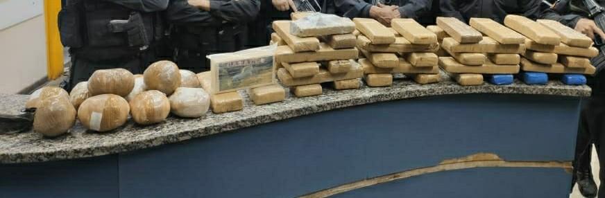 Mais 50 kg de drogas são encontrados enterrados em terreno baldio de Barra Mansa