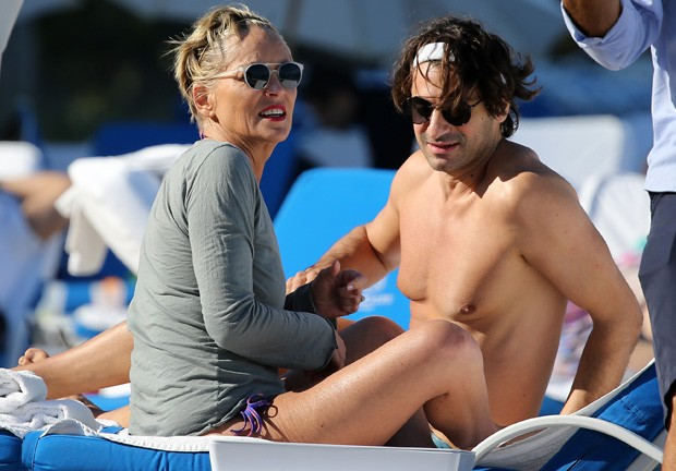 Sharon Stone e Angelo Boffa (Foto: Grosby Group)