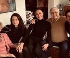 Claudia Raia e os filhos com Tarcísio Meira e Glória Menezes   Reprodução