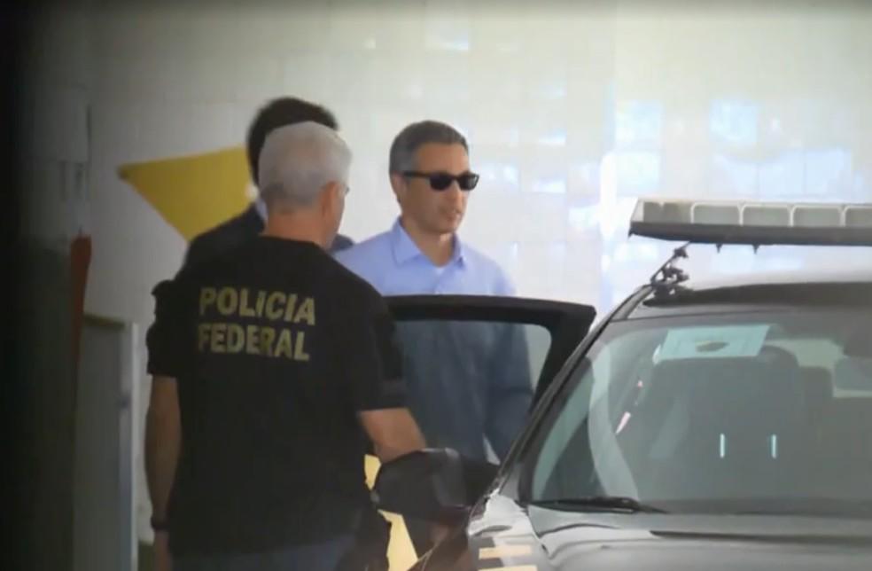 Márcio Lobão havia sido preso na terça (10), durante operação da Lava Jato — Foto: Reprodução/Jornal Nacional