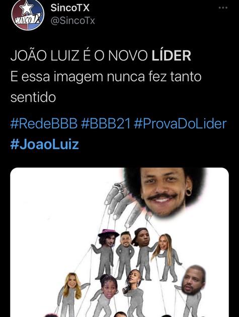 Meme sobre a liderança de João (Foto: Reprodução)