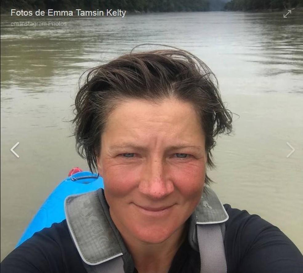 Esportista britânica Emma Kelty tinha 43 anos. — Foto: Arquivo Pessoal/Reprodução