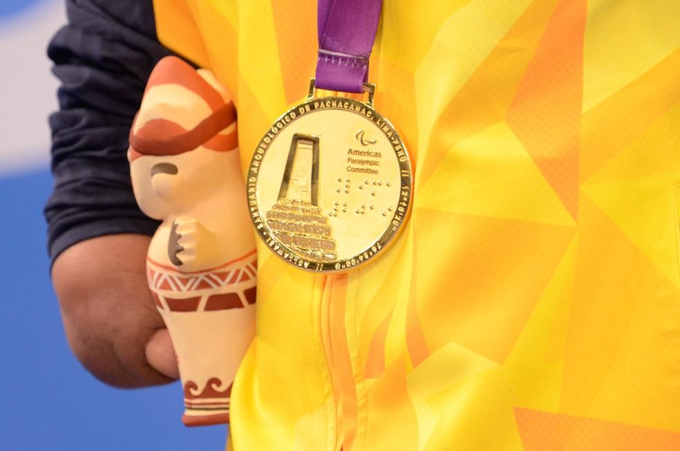 Daniel Dias conquista o ouro nos 200 m livre (S5) — Foto: Saulo Cruz/EXEMPLUS/CPB