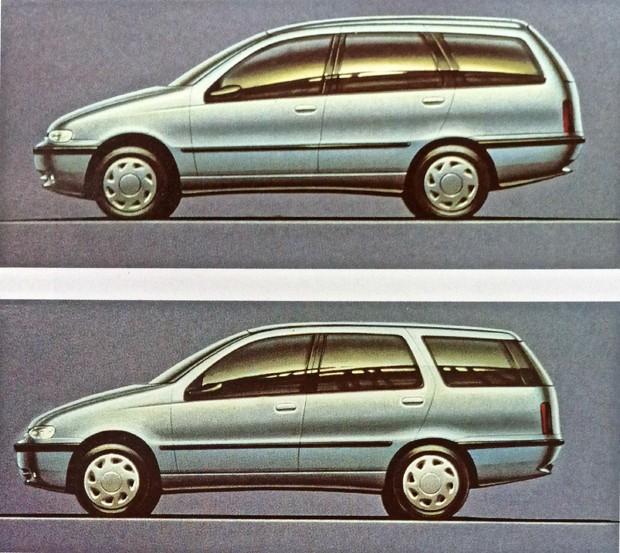 Mais duas propostas de design rejeitadas com variações para linha do teto, coluna C e tampa traseira  (Foto: MIAU Museu da Imprensa Automotiva)