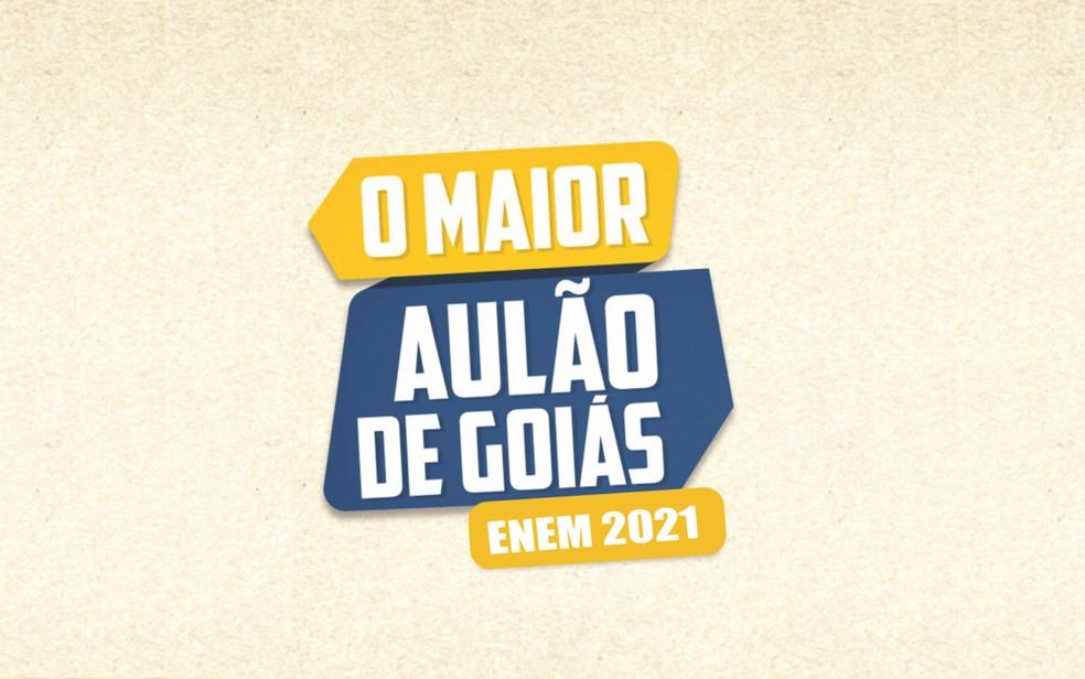 Maior Aulão de Goiás prepara alunos para o Enem — Foto: Reprodução/TV Anhanguera
