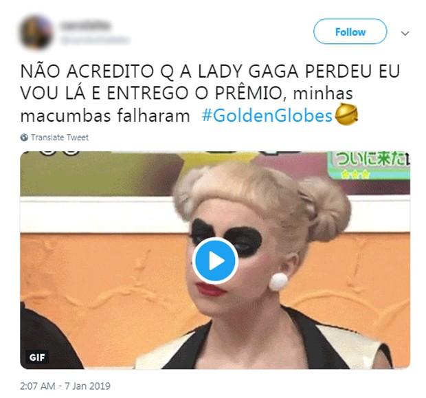 Comentários sobre Lady Gaga (Foto: Reprodução/Twitter)