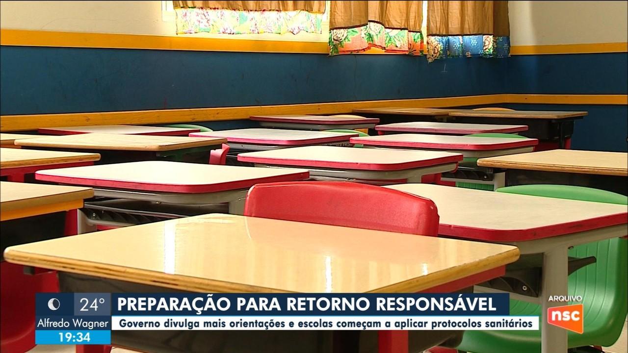 Escolas se preparam para retorno às aulas em SC