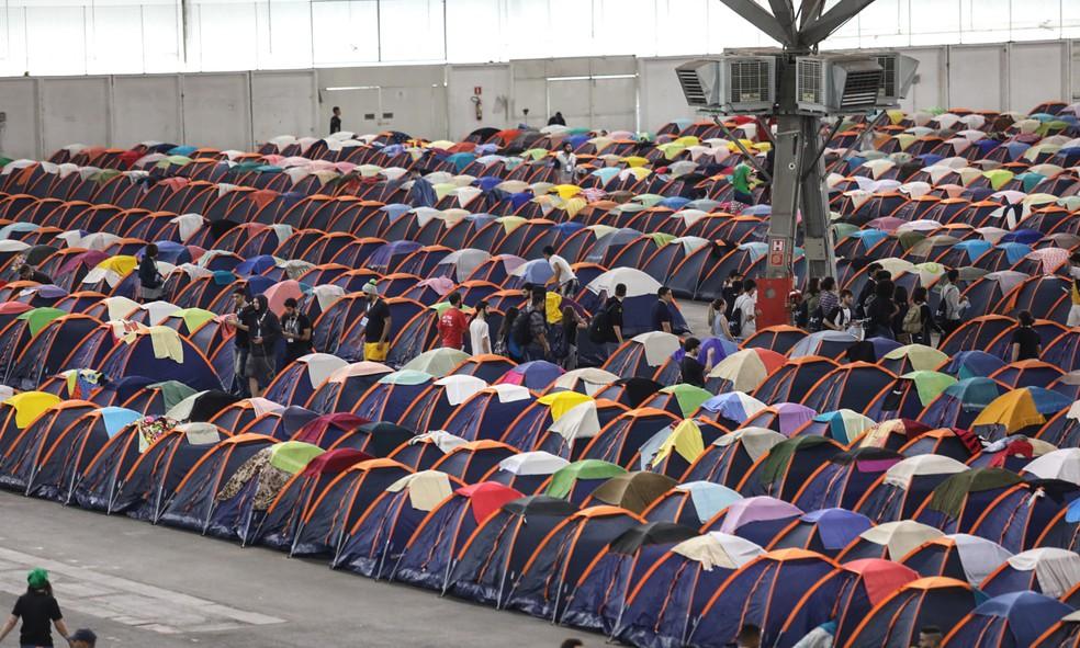 A expectativa da organização é reunir 2 mil campuseiros na Arena e receber um público total de 50 mil visitantes na Open Campus (Foto: Fábio Tito/G1)