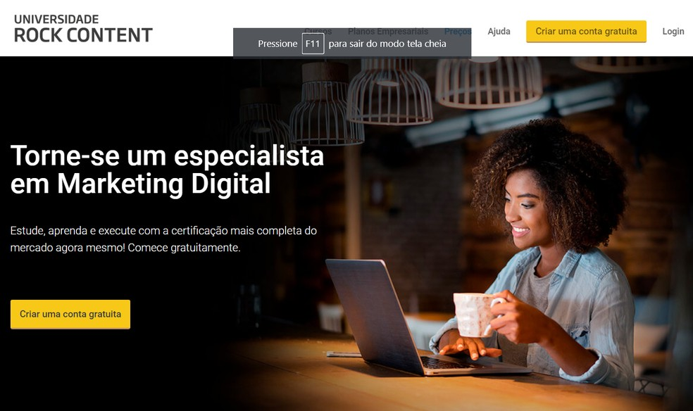 Sites oferecem cursos online gratuitos com certificado para fazer em casa