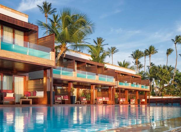 Os quartos do hotel Essenza possuem vista para o mar e piscinas privativas (Foto:   Essenza Hotel/Reprodução)