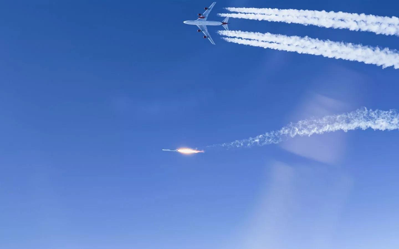 """Virgin Orbit: avião """"Cosmic Girl"""", um Boeing 747, lança o foguete LauncherOne"""