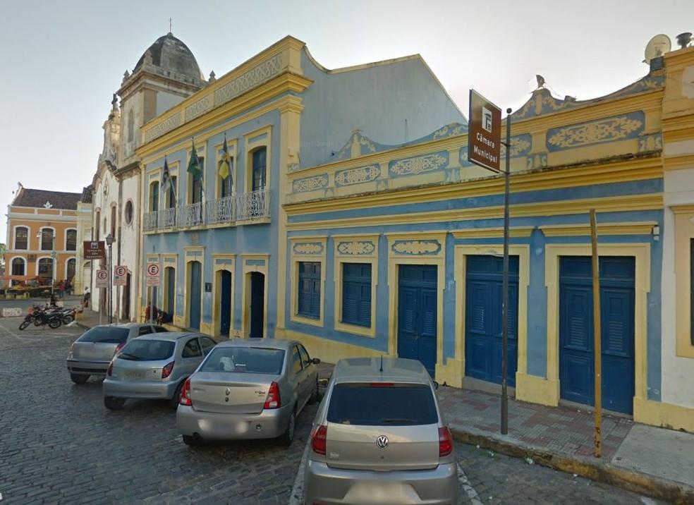 Câmara Municipal de Olinda fica localizada no bairro do Varadouro — Foto: Reprodução/Google Street View