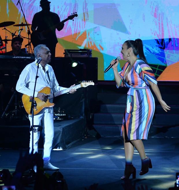 Gilberto Gil e Ivete Sangalo (Foto: Francisco Cepeda/AgNews)