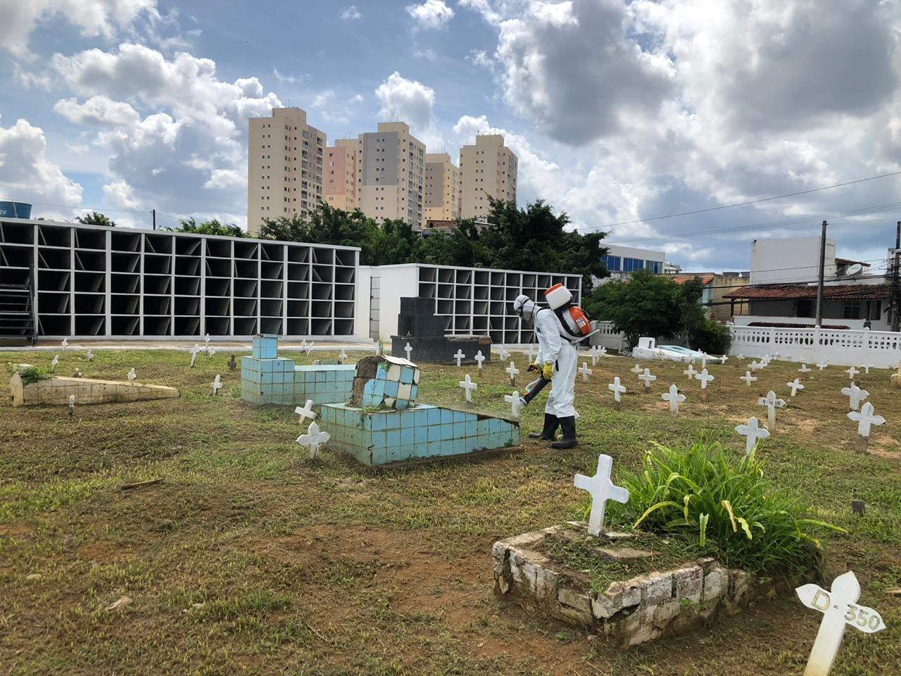 Número de sepultamentos em cemitérios públicos de Salvador aumenta 551% entre abril e maio
