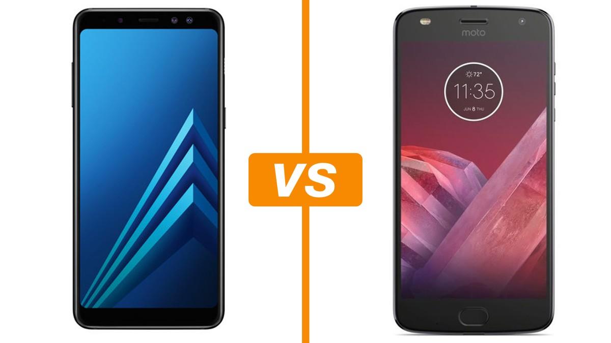 04c8ae89e Galaxy A8 (2018) vs Moto Z2 Play  veja comparativo de celulares  intermediários