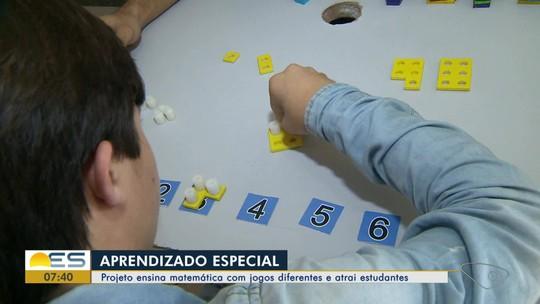 Projeto ensina matemática com jogos diferentes e atrai estudantes no ES