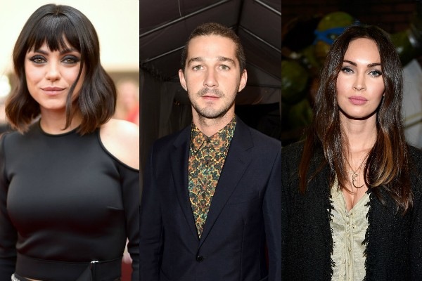 Mila Kunis, Shia Labeouf e Megan Fox (Foto: Getty Images)