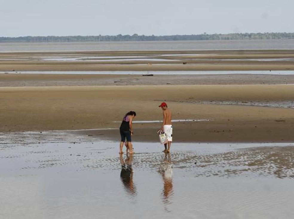 Praia de Beja está fechada no verão 2020. — Foto: Cláudio Pinheiro/Amazônia Jornal