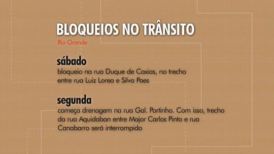 Veja alterações no trânsito em ruas do centro de Rio Grande