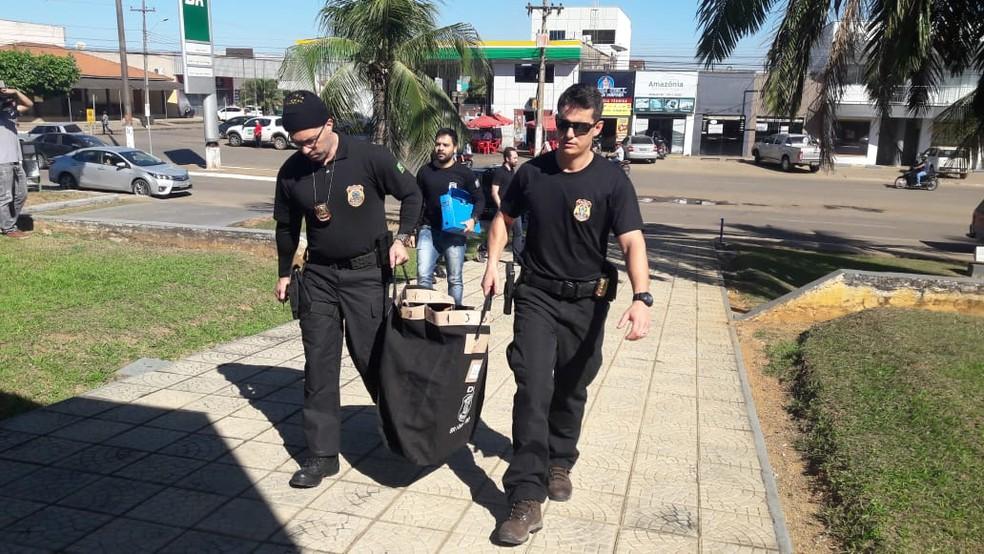PF cumpriu 13 mandados de busca e apreensão (Foto: Rinaldo Moreira/G1)