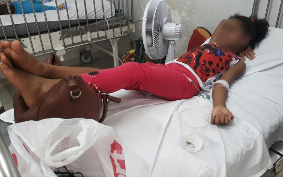 Criança de 7 anos é picada por escorpião na Policlínica do Verdão, em Cuiabá (Foto: Arquivo pessoal)