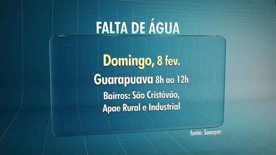 Quatro municípios da região ficam sem água neste fim de semana
