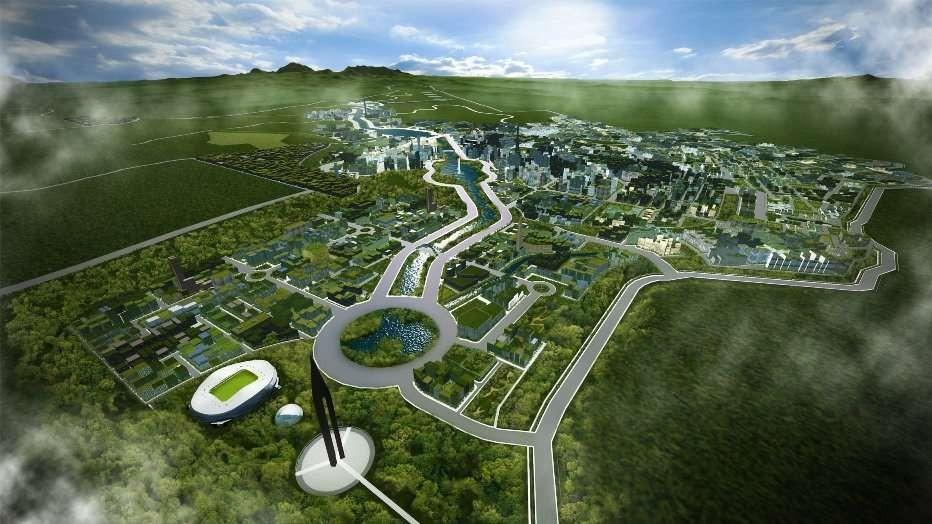 Modelo da cidade que será chamada New Clark (Foto: Divulgação)