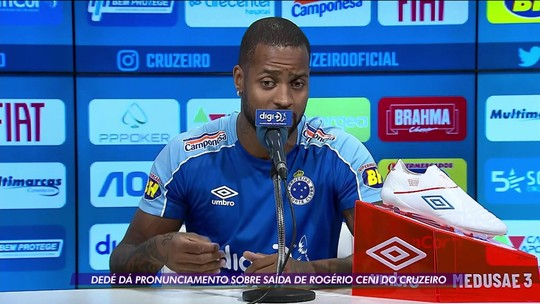 Dedé dá pronunciamento e explica sua versão sobre saída de Rogério Ceni do Cruzeiro