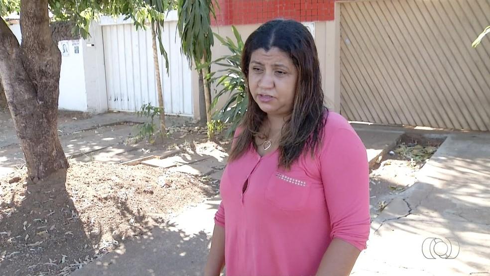 Doméstica já sofreu dois abortos e teme perder terceira gestação (Foto: Reprodução/TV Anhanguera)