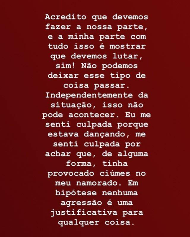 Jeniffer Oliveira posta em galeria no Instagram detalhes da agressão e fotos dos hematomas (Foto: Reprodução/Instagram)