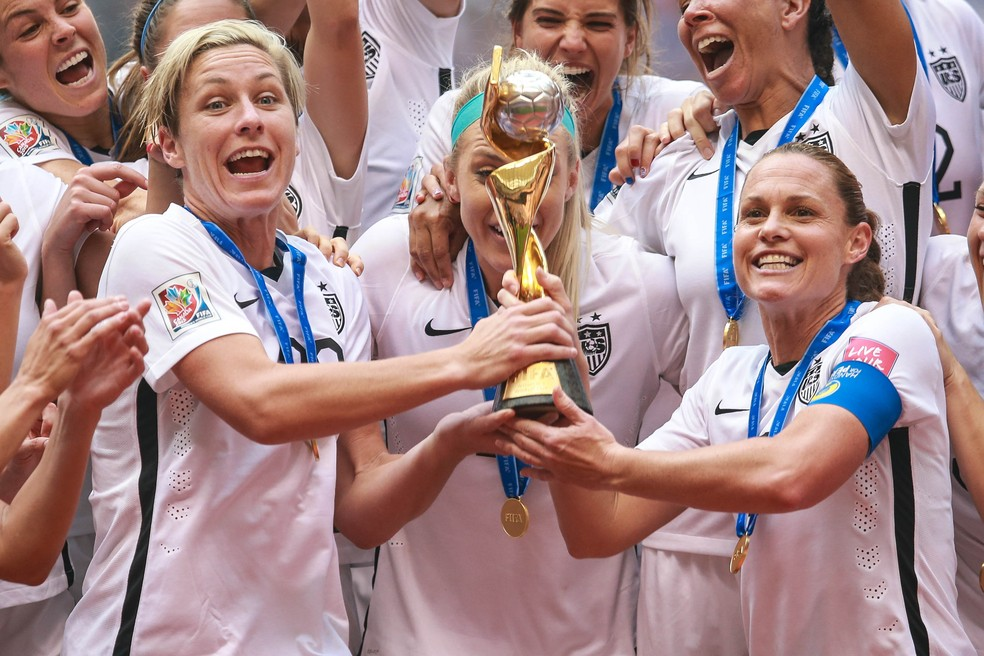 Estados Unidos são a seleção mais vitoriosa do torneio mundial — Foto: AFP