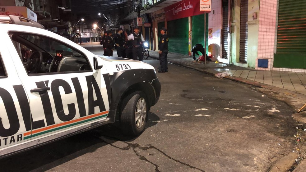 Homicídio no Centro — Foto: Foto: Paulo Sadat
