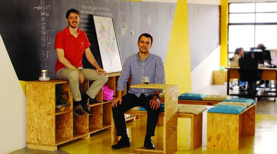 Gustavo Bobrow e o sócio Pedro Pimenta (Foto: Divulgação)
