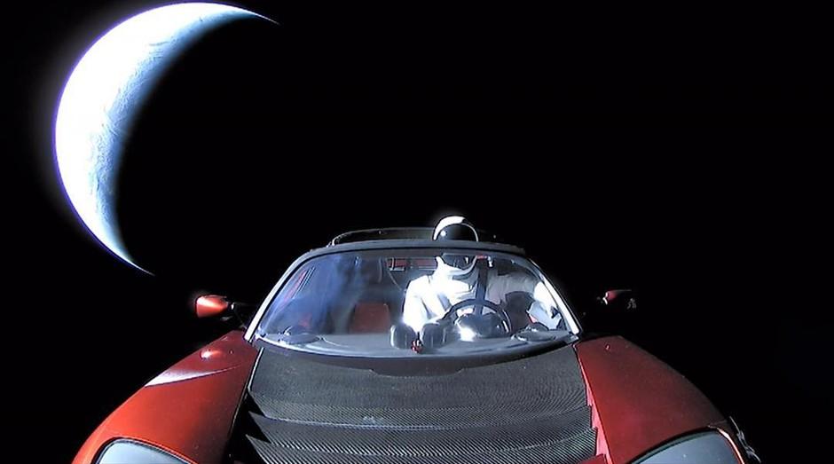 Roadster da Tesla (Foto: Reprodução Instagram )