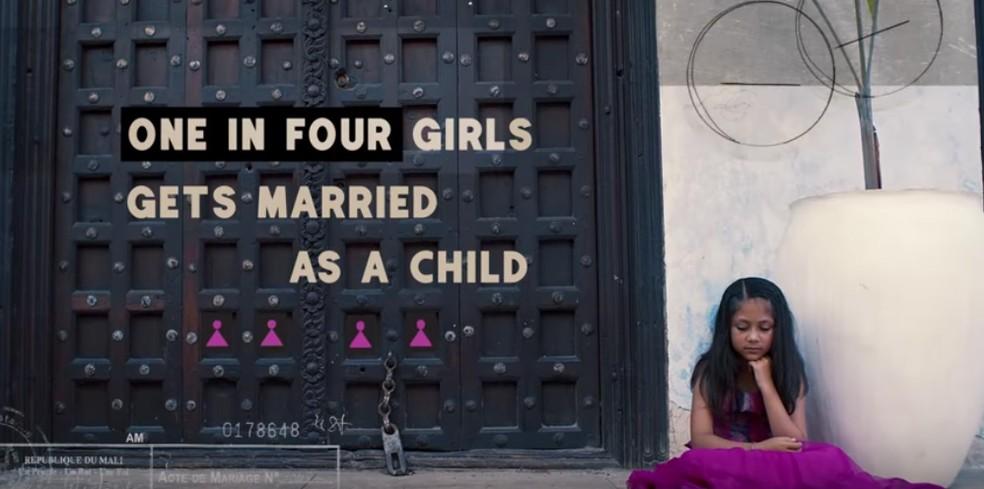 Vídeo de 'Freedom' chama atenção para dado sobre casamentos infantis (Foto: Reprodução/YouTube/The Global Goals)
